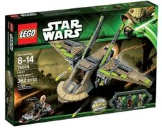 #LEGO #Starwars 75024 HH-87 Starhopper. Make a smooth landing with the folding wings and find out what he's up to! Includes 3 minifigures with #weapons: Obi-Wan in Rako Hardeen disguise, Cad Bane and a Nikto guard. Price: S$69.90