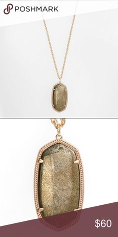 Rae necklace in pyrite NWT - the famous long necklace by Kendra in a beautiful neutral tone Kendra Scott Jewelry Necklaces