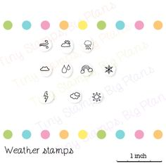 Planner stamps - weather stamps (6.50 AUD) by TinyStampsBigPlans