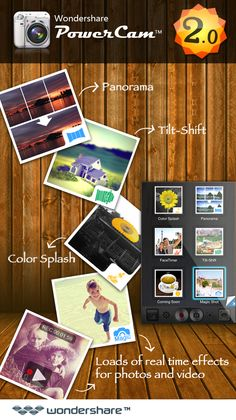 Good news! Wondershare PowerCam™ 2.0 is available online! Now, with newly added panorama shot, post-production, polar Tilt-Shift Mode, Instagram sharing, and more stunning features, you can easily shoot and have fun with creative and artistic photos and videos. Why not update it now? http://itunes.apple.com/us/app/powercam/id453180850