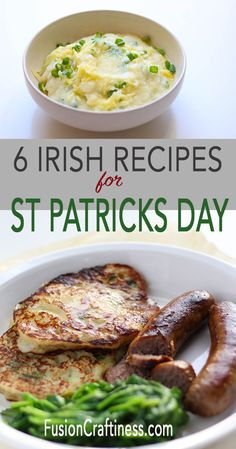 Irish Food, easy and traditional, for St. Patricks Day or any day. These Irish recipes will surely delight your picky eaters and are simple enough for weeknight meals. These easy recipes are perfect for new cooks too! Learn how to make Coddle, Champ, Colcannon, Irish Stew, Irish Soda Bread and Boxty! Happy St. Patrick's Day!