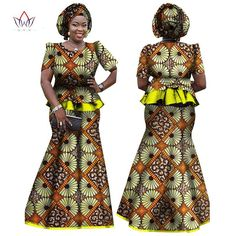 African Women Skirt and Blouse, headwrap Set, Customize African clothing plus size Ankara dress - Owame African Fashion Designers, African Men Fashion, Africa Fashion, African Women, Ladies Fashion, Womens Fashion, African Print Dresses, African Dress, Ankara Dress