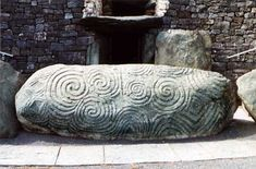 One of the kerb stones at Newgrange in Ireland. This was carved by Stone Age people before the pyramids in Egypt were built. Amazing, huh?