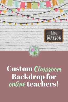 A colorful farmhouse classroom look! This beautiful background is customizable and is printed on high quality vinyl with grommets for easy hanging. Classroom Signs, Online Classroom, Classroom Posters, Classroom Decor, Classroom Background, Vinyl Banners, Low Key, Esl, Backdrops