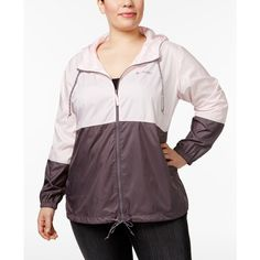 Columbia Plus Size Flash Forward Windbreaker ($50) ❤ liked on Polyvore featuring plus size women's fashion, plus size clothing, plus size activewear, plus size activewear jackets, columbia activewear, womens plus size activewear, columbia and columbia sportswear