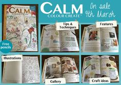 We're very excited to introduce our new-look Calm Colour Create magazine. Issue 8 will be on sale from the 9th March and it features Art Nouveau inspired illustrations, along with the addition of our new colour centre pages.