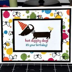 Stampin' Up card using the Hot Diggity Dog and the Gorgeous Grunge stamp sets.