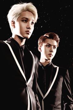 Kai and Sehun Xx The youngest of the exo members...... Dramatic applause please!