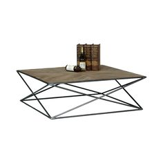 Enliven an industrial chic or cool, contemporary living space with this gorgeous table. With a stunningly finished pine tabletop and a gorgeously crisscrossed metal bar base, this Beamed Coffee Table w...  Find the Beamed Coffee Table, as seen in the  #LongitudesOfStyle  Collection at http://dotandbo.com/collections/longitudesofstyle?utm_source=pinterest&utm_medium=organic&db_sku=111605