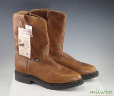 Justin 762 Men's 8 Inch Copper Caprice Leather Work Boot 13 B New #Invicta #WorkSafety