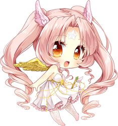 anime chibi girl with wings