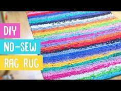 How to Make a Rag Rug Out of Sheets : DIY Home Projects - YouTube