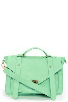 Style For Miles Mint Green Handbag at LuLus.com!