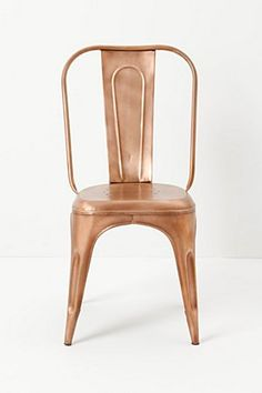 redsmith dining chair in copper Unique Furniture, Dining Furniture, Home Furniture, Dining Chairs, Furniture Design, Dining Room, Bistro Chairs, Painted Furniture, Bronze