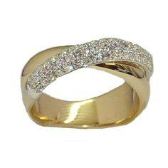 0.62 cttw. Diamond Ring https://www.goldinart.com/shop/diamond-rings/0-62-cttw-diamond-ring-2 #DiamondBands, #DiamondRings, #YellowGold