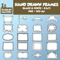 Clip Art Hand Drawn Frames Borders Headers  by TheClipartFactory, $2.00