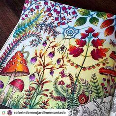 #artterapy #artwork #johannabasford #mushroom #forest #secretgarden