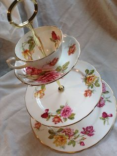 Morgans Rose Tea Stand Hors D'oeuvres Plate by hattershightea, $120.00
