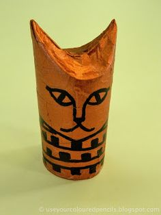Make Egyptian Cat Mummies  http://useyourcolouredpencils.blogspot.com/search/label/ancient%20egypt#