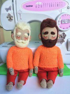 Cloth doll Baby Beardy with tattoos mustache and от Tattoysclub
