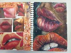 Sketchbook page of observational studies