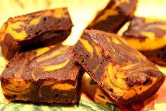 Brownies marbrés au chocolat et potiron