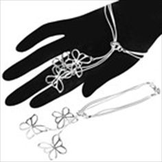 Fashionable Bracelet Hand Chain Wrist Ornament Jewelry with Butterfly Pendant for Female Woman Girl