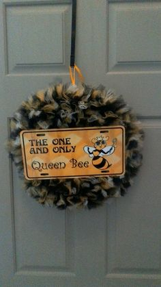 Queen Bee Tulle Wreath by TutuChicWreaths on Etsy