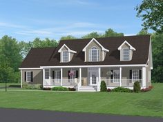 Adding a Second Story Plans | Idea for adding a full front porch, a larger second story and bump-out ...