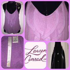 Lauren Conrad Tank ~ B2 Purple tank, worn once. Pretty and great for layering with a cardigan, blazer or sweater. Lauren Conrad Tops Tank Tops