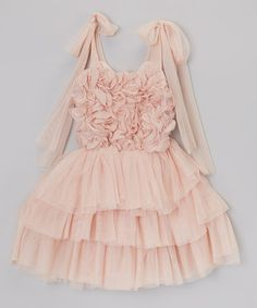 Rosette & Ruffle Tie Dress - Infant, Toddler & Girls #zulily #ad *whimsical