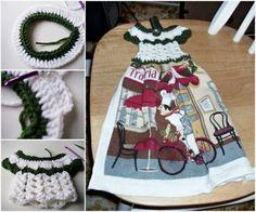 Tea Towel Crochet Dress Topper Free Pattern