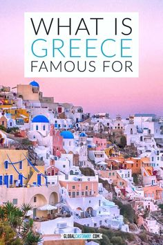 The most incredible things Greece is famous for around the world. From the colorful beaches of Santorini to the delicous Mediterranean cuisine, discover everything Greece is known for. Greece Vacation, Greece Travel, Vacation Trips, Italy Travel, Best Cruise, Cruise Port, Santorini Travel, Santorini Greece, Crete Greece