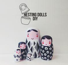 Little Birds Blog: Geometric pattern nesting dolls DIY
