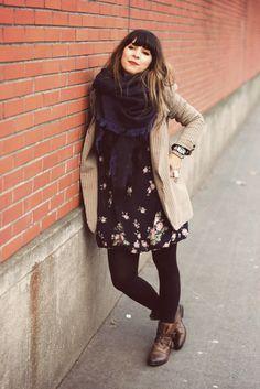 Tweed, roses, leather.