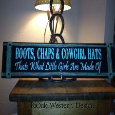 Western Cowgirl sign
