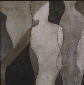 "Art.com Figure Overlay I by Megan Meagher Framed Art Print, 36 x 25"", Brown"