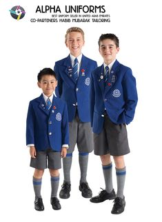 Best School Uniforms Manufacturer and Supplier in Dubai, Sharjah, and Ajman UAE. School uniforms for Boys and Girls. Best School Uniform, College Uniform, Cute School Uniforms, Corporate Uniforms, Airline Uniforms, Medical Uniforms, School Dresses, School Outfits, Grey School Shorts