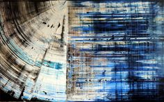 'Radar', original abstract painting by artist Niki Hare I see more at: http://www.saatchiart.com/art-collection/Painting-Drawing-Collage/New-This-Week-3-30-2015/153961/100575/view #blue