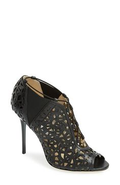 Jimmy Choo 'Tactic' Laser Cutout Open Toe Bootie (Women) available at #Nordstrom