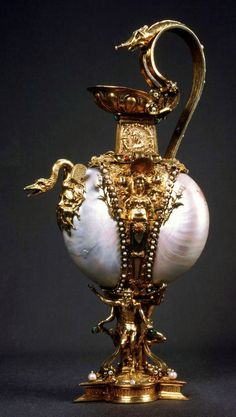 Hand wash 'nautilus' jug by Anonymous from Antwerp, 1544-1545, Kremlin Museum, from the collection of the Polish Vasas