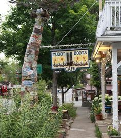 Muddy Boots Cafe, a favorite breakfast spot in Nashville, Ind.  (Whitney Tressel) From: Coolest Small Towns 2012. Click on the photo to nominate your favorite small town for 2014's contest!