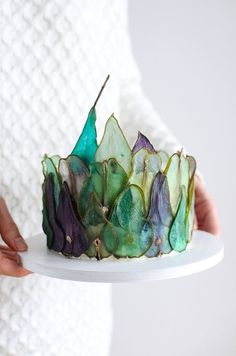 How to make colorful slices of pear to decorate DIY cakes