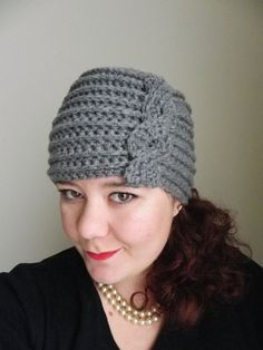 Twisted Cable Flapper Hat  Vintage Look  Crochet by TchauBella, $20.00
