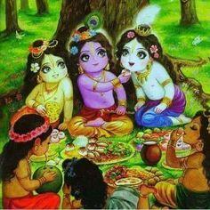 krishna and friends Krishna Lila, Little Krishna, Jai Shree Krishna, Cute Krishna, Radha Krishna Images, Lord Krishna Images, Radha Krishna Love, Krishna Radha, Radha Rani