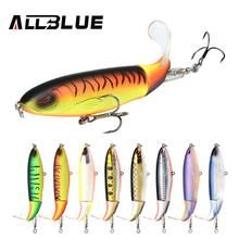 2 pcs Topwater Fishing Lure Rotate Tail Artificial Whopper Plopper Hard Bait