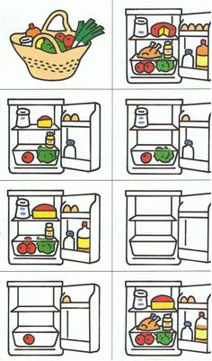 what's there in the fridge? Sequencing Cards, Story Sequencing, I Love School, Food Vocabulary, Montessori Math, Pizza Restaurant, Preschool Themes, Speech Therapy Activities, Food Themes