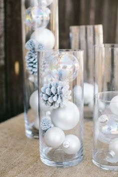 Winter Wonderland Baby Shower : Full Of Fun DIY Winter Decorating Ideas Winter has just begun and everybody is ready to welcome it by doing different decorations. Here are some beautiful diy winter decorating ideas for you to make your winter special. Winter Wonderland Decorations, Easy Christmas Decorations, Winter Wonderland Wedding, Christmas Centerpieces, Winter Decorations, Baby Shower Winter Wonderland, Winter Wonderland Christmas Party, Table Decorations, Winter Baby Shower Decor