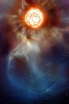 Close-up photos of dying star