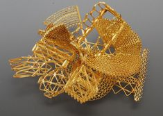 Robert Baines 'Gold brooch no. 1' 2010 Gold 46gms